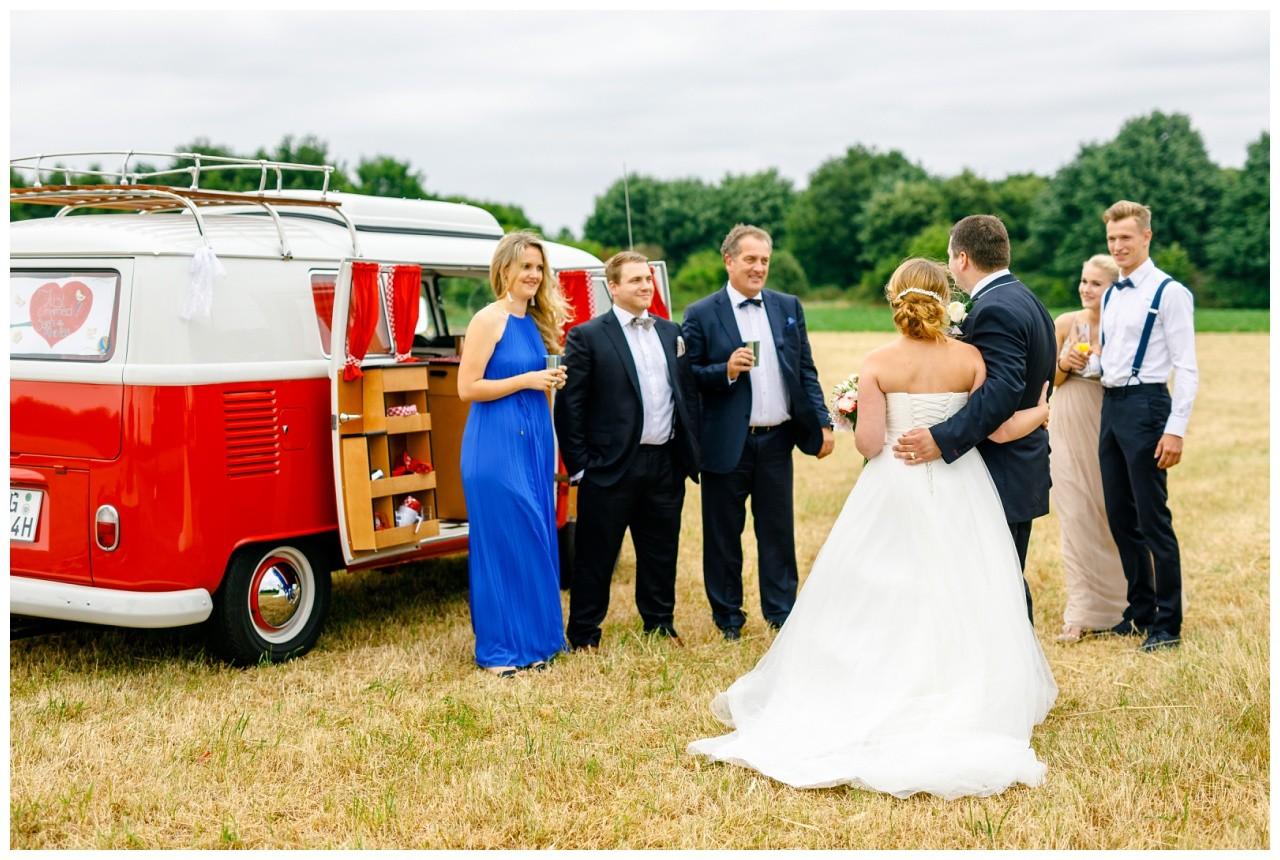 Überraschung von der Familie zur Hochzeit in Krefeld