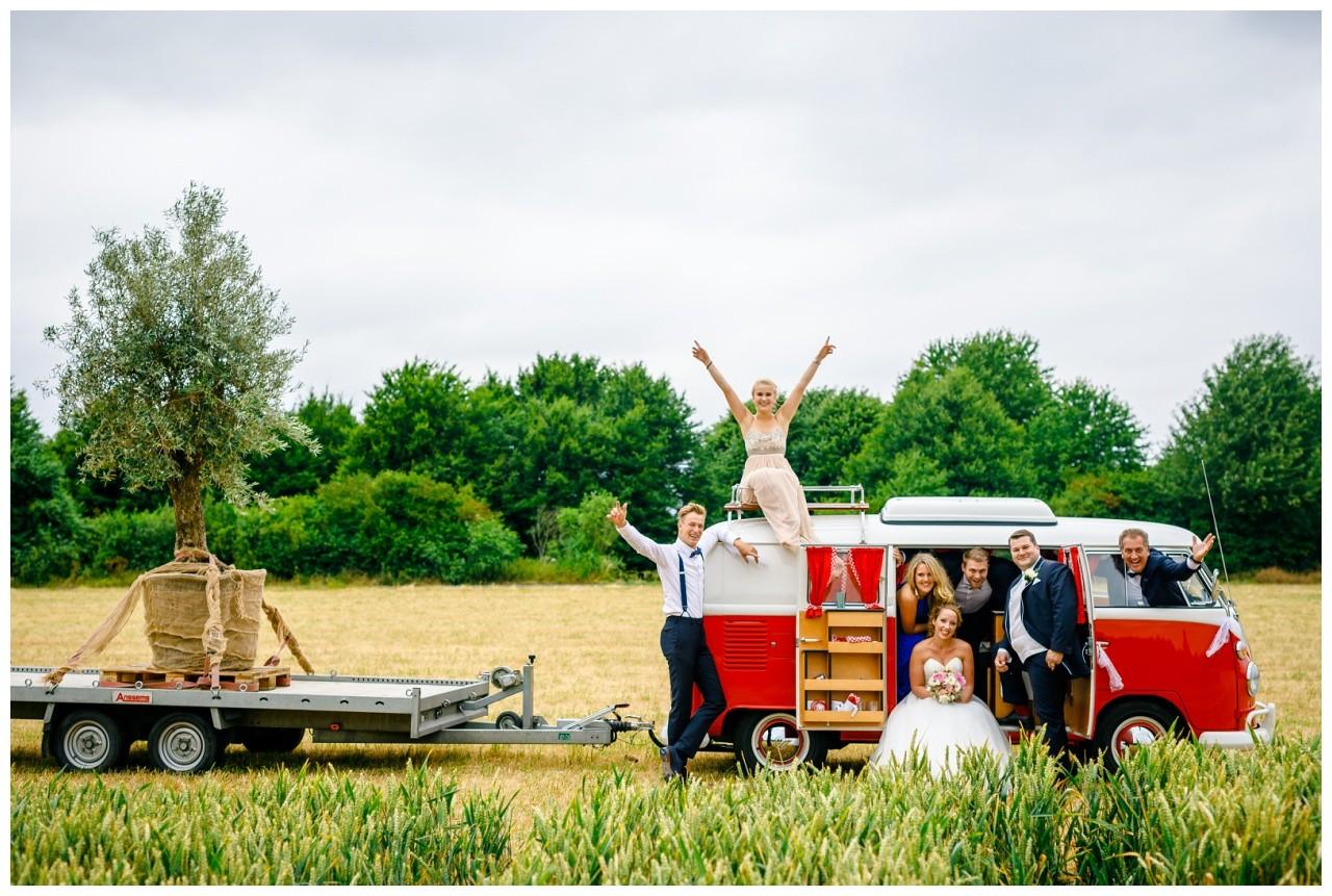 Familienfoto zur Hochzeit vom Hochzeitsfotograf Niederrhein