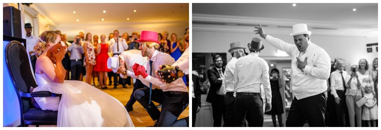 Überraschung für die Braut zur Hochzeit in der Elfrather Mühle in Krefeld