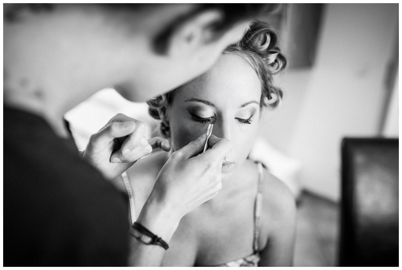 Getting Ready der Braut vor der Hochzeit in Mönchengladbach