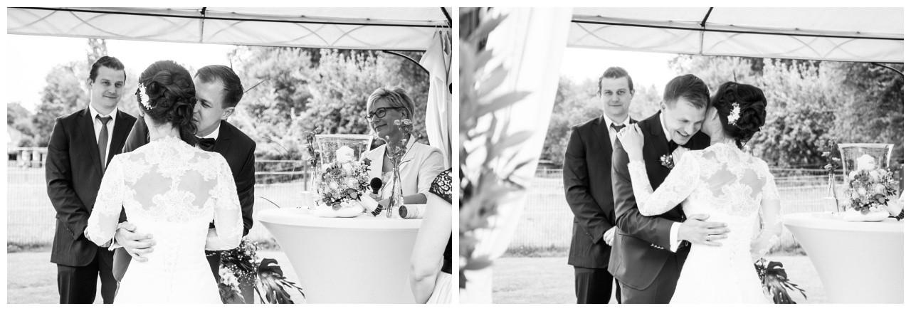 Braut und Bräutigam bei der Hochzeit in Dortmund