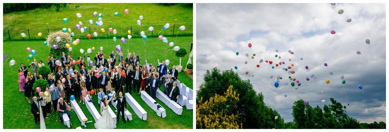Luftballons steigen lassen Hochzeit Dortmund