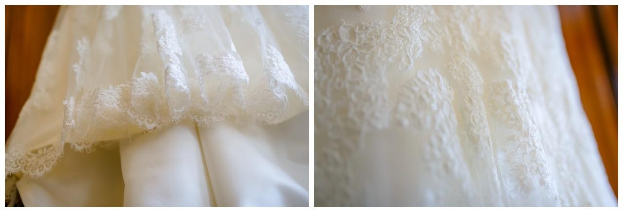Spitzenkleid Brautkleid bei der Hochzeit in Recklinghausen