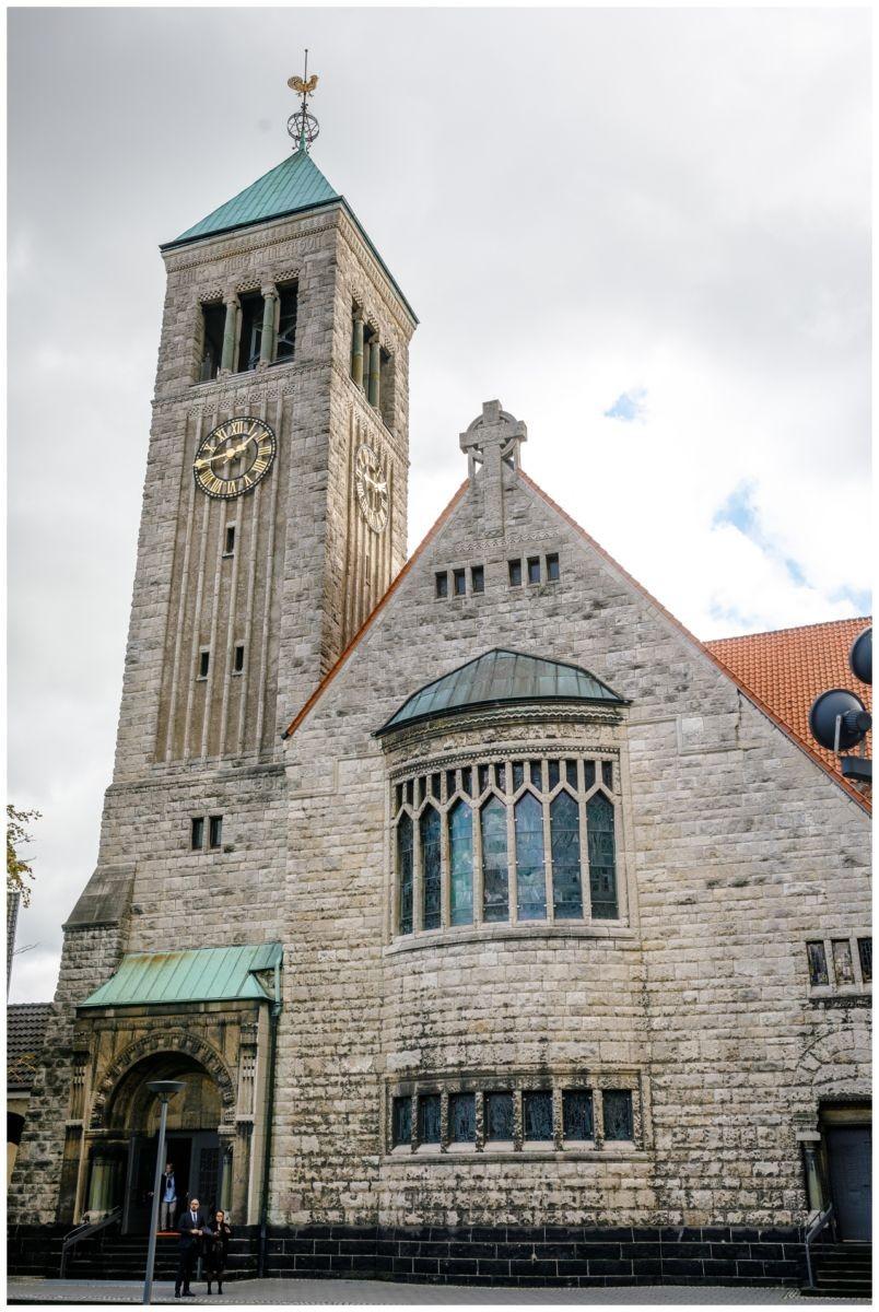 Die Christuskirche vor der Hochzeit in Recklinghausen