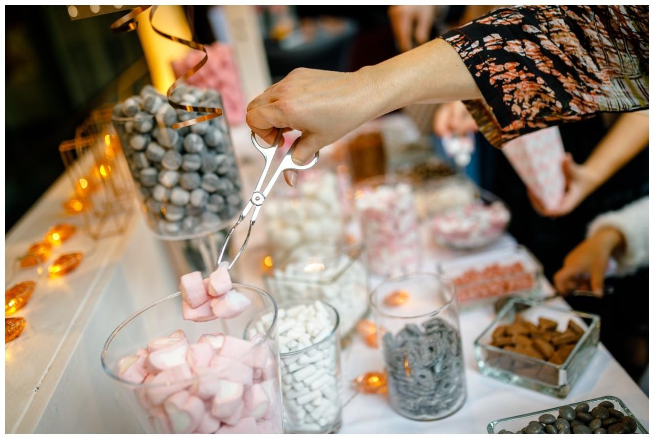 Candybar in Rosa bei der Hochzeit im Subergs in Recklinghausen