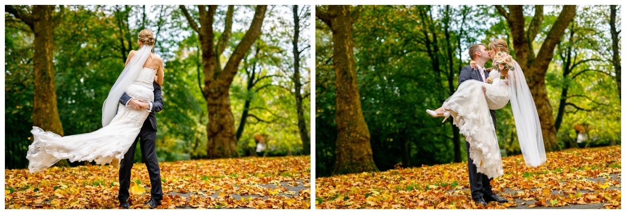 Brautpaarshooting im Herbst in Recklinghausen