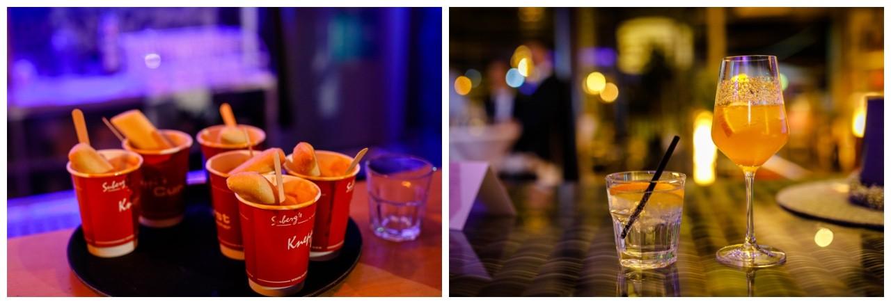 Currywurs und Cocktails als Mitternachtssnack bei der Hochzeit im Subergs in Recklinghausen