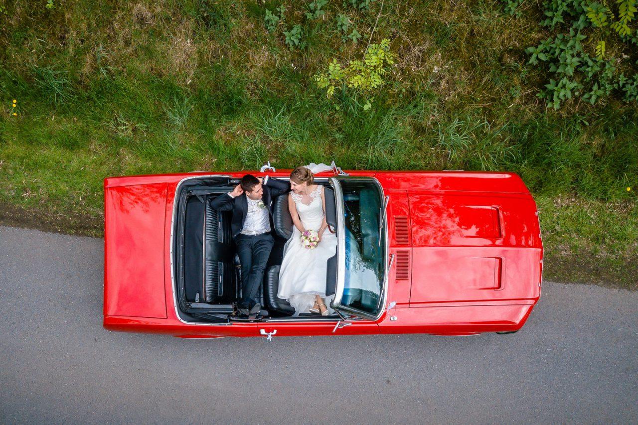 drohnenfoto bei der Hochzeit in Bottrop