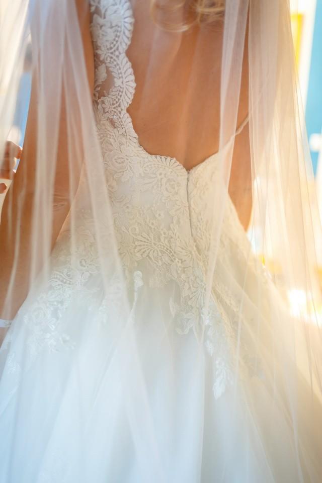 Rückenausschnitt Brautkleid