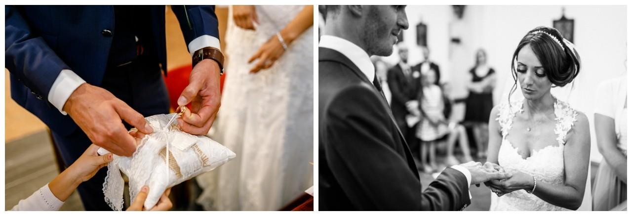 Ringtausch in der Kirche zur Hochzeit in Köln