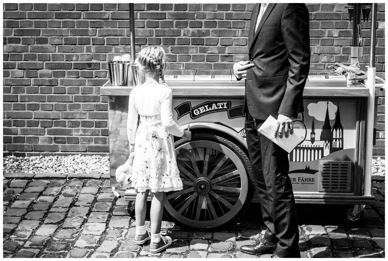 Ein Eiswagen zur Hochzeit in Köln