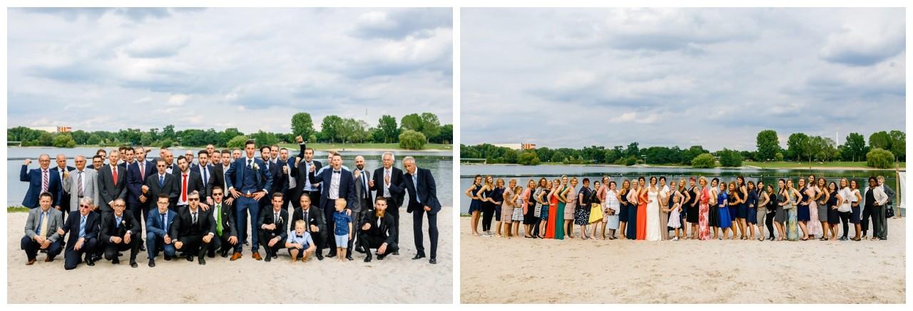 Gruppen bilder Mädels und Jungs zur Hochzeit