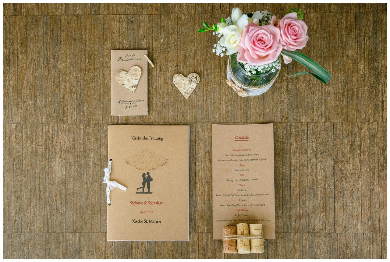 Papeterie Kraftpapier Hochzeit Köln