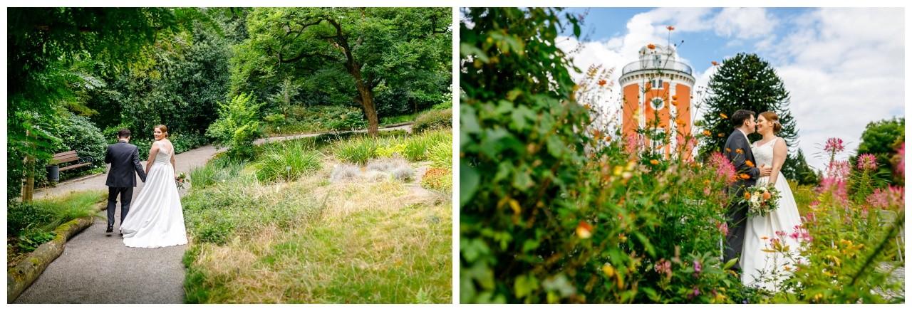 Hochzeitsbilder im Botanischen Garten beim Elisenturm in Wuppertal