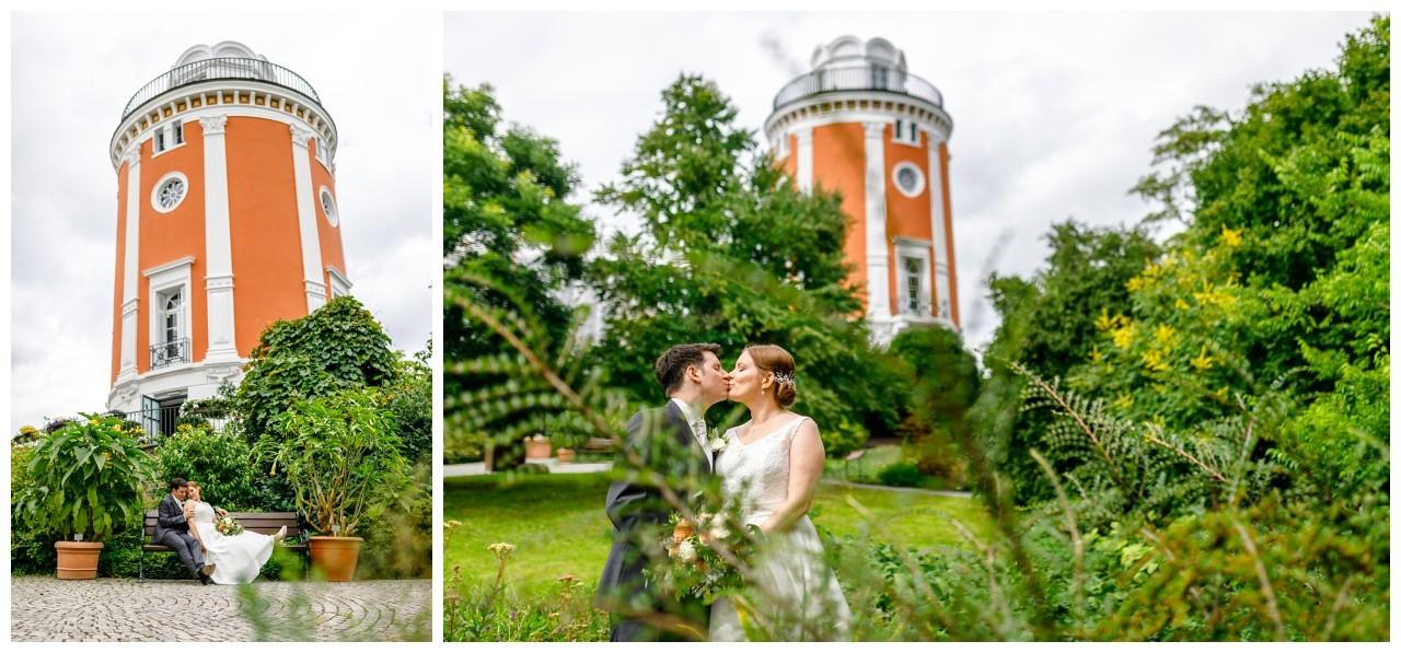 Hochzeitsfotos am Elisenturm in Wuppertal