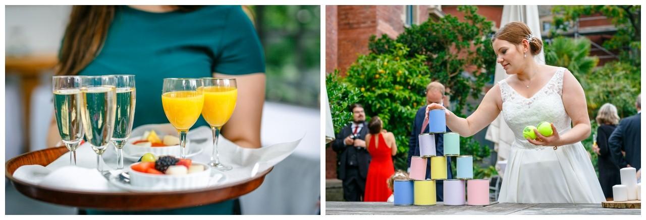 Hochzeit im ELisenturm in Wuppertal, die Party fand in der Orangerie in Wuppertal statt