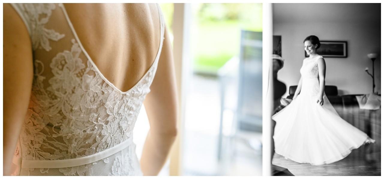 Die Braut in ihrem Brautkleid in Essen