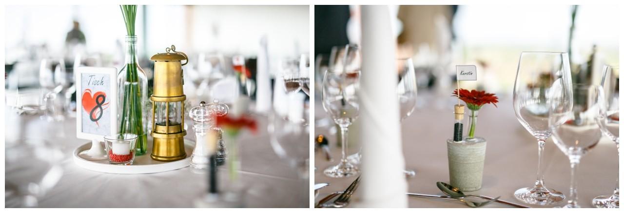 Hochzeitsdekoration Ruhrpott, Grubenlampen