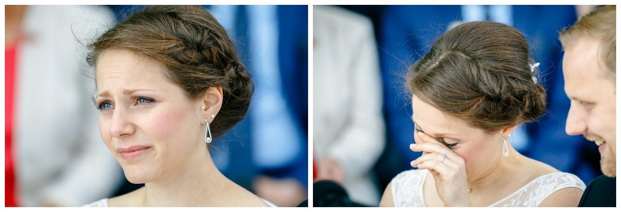 Die Braut bei der Freien Trauung in Essen
