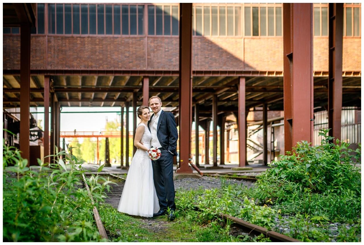 Hochzeitsshooting auf Zeche Zollverein