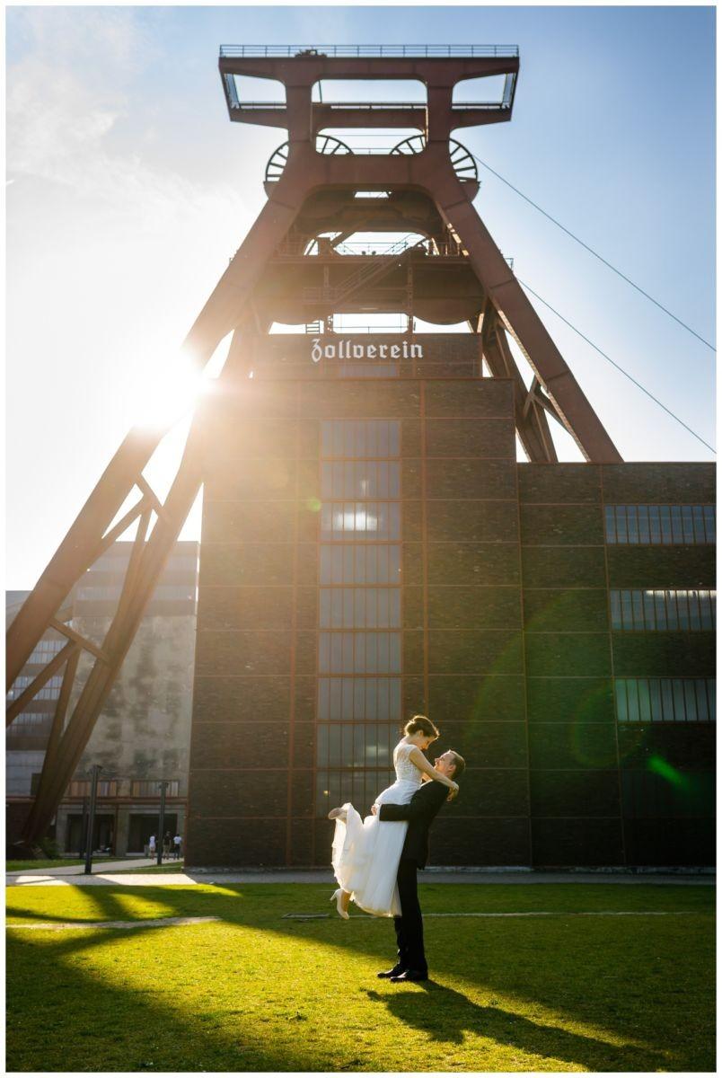 Hochzeitsfoto Zeche Zollverein in Essen