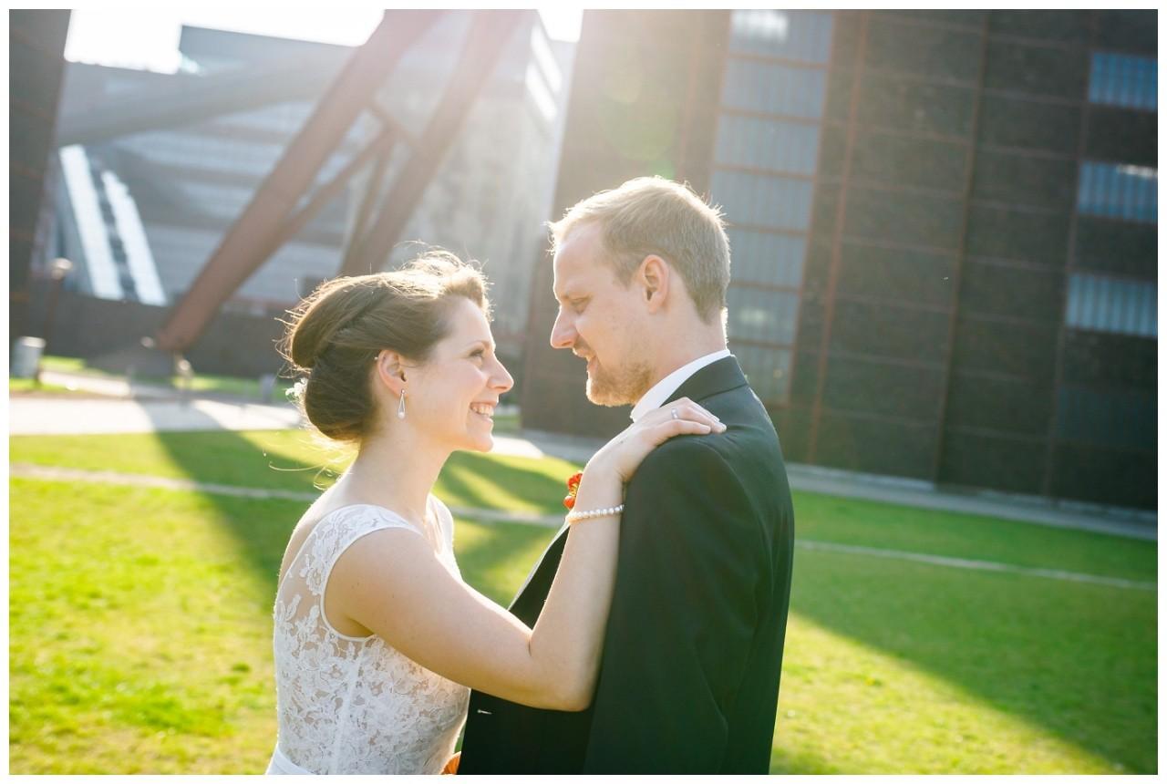 Das Brautpaar bei der Freie Trauung auf Zeche Zollverein