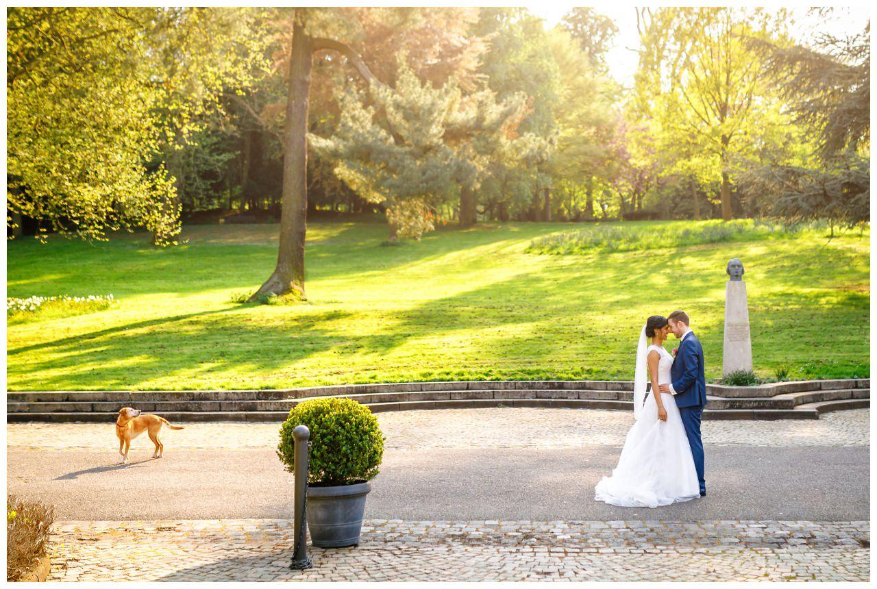 Hochzeitsfotos im Garten der Redoute in Bonn