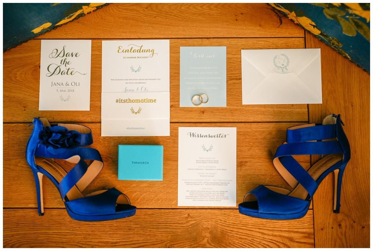 Einladungskarte Mintgrün Gold