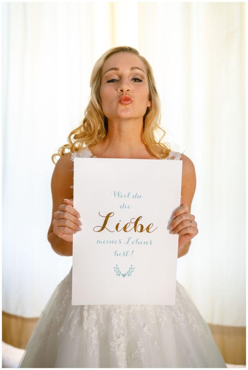 Besonderes Bild von der Braut vor der Hochzeit