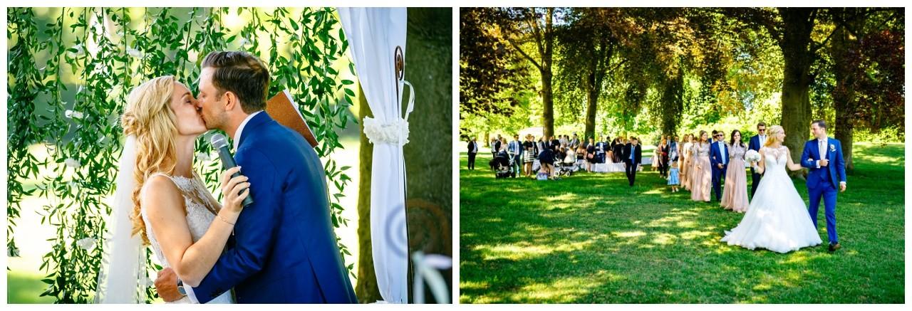 Freie Trauung im Garten von Schloss Hertefeld