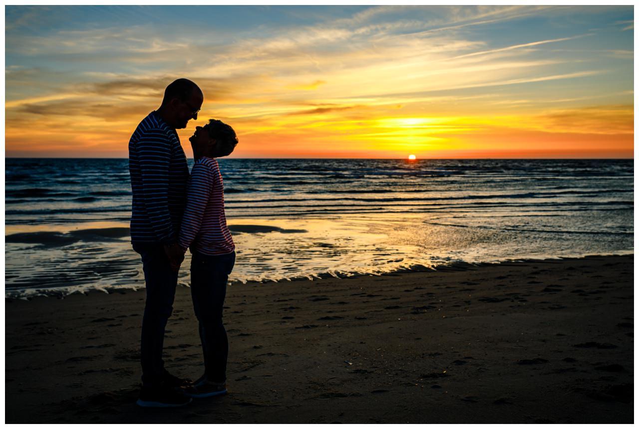 Silhouettenfoto am Strand von Sylt