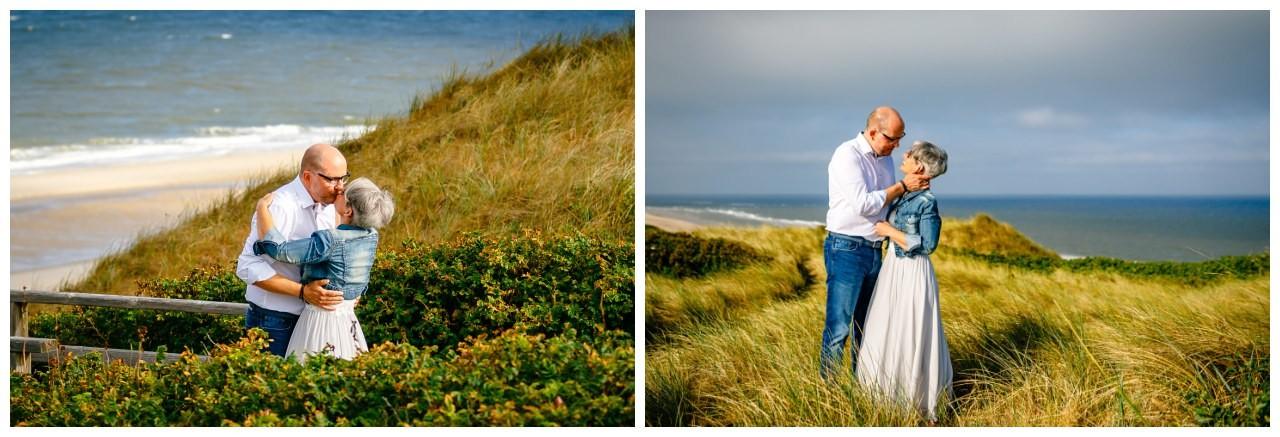 Brautpaarfotos am Strand von Sylt.