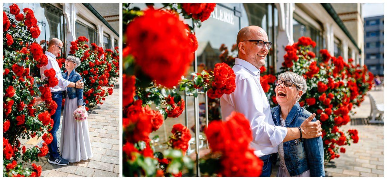 Hochzeitsbilder vor dem Standesamt Sylt.