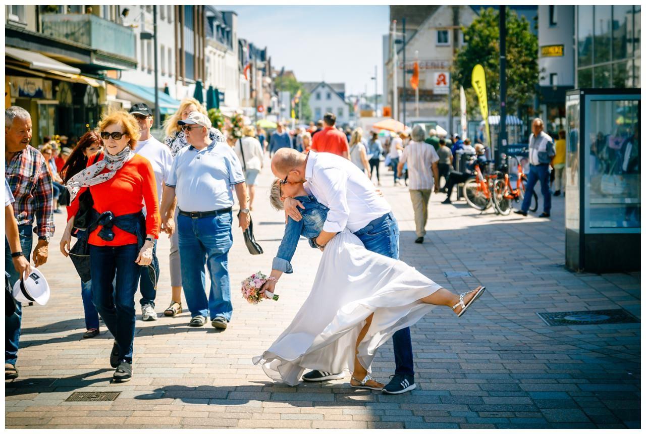Hochzeitskuss in Westerland.