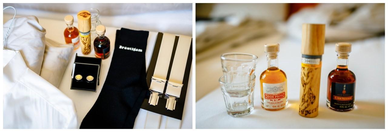 Bräutigam Accessoires zur Hochzeit.