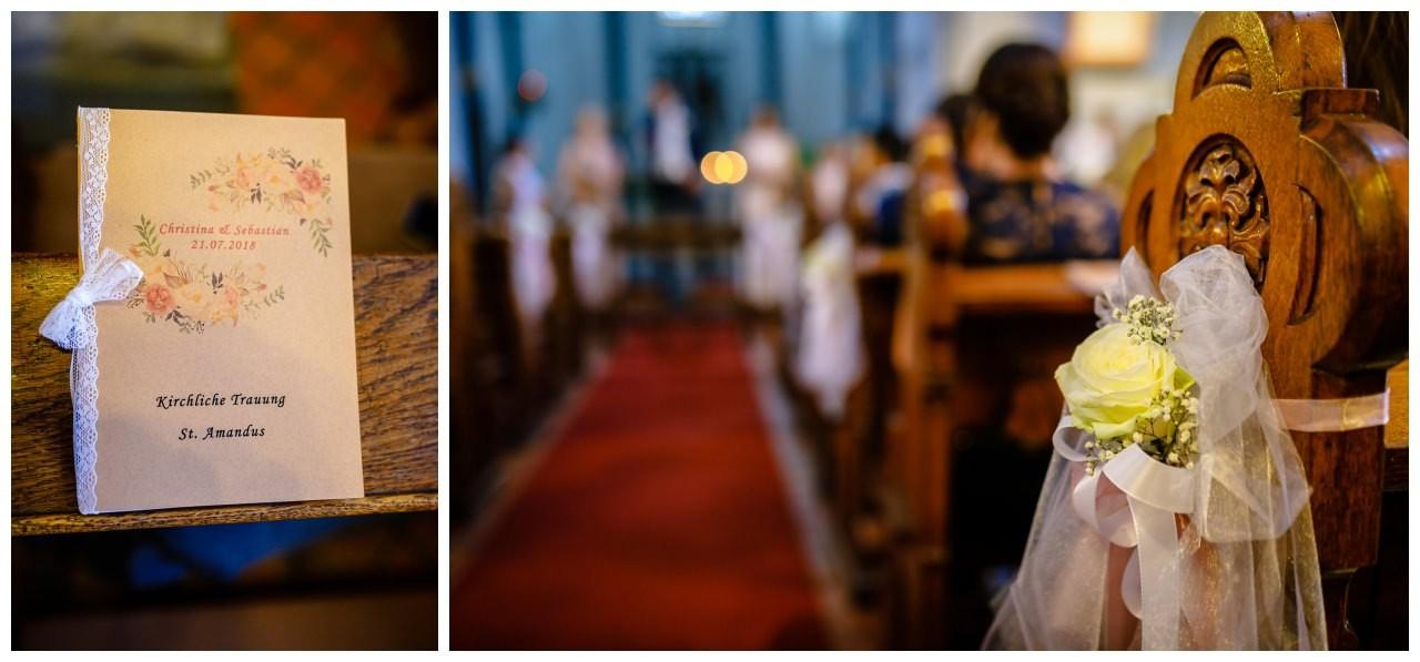 Kirchenheft zur Hochzeit in Köln.