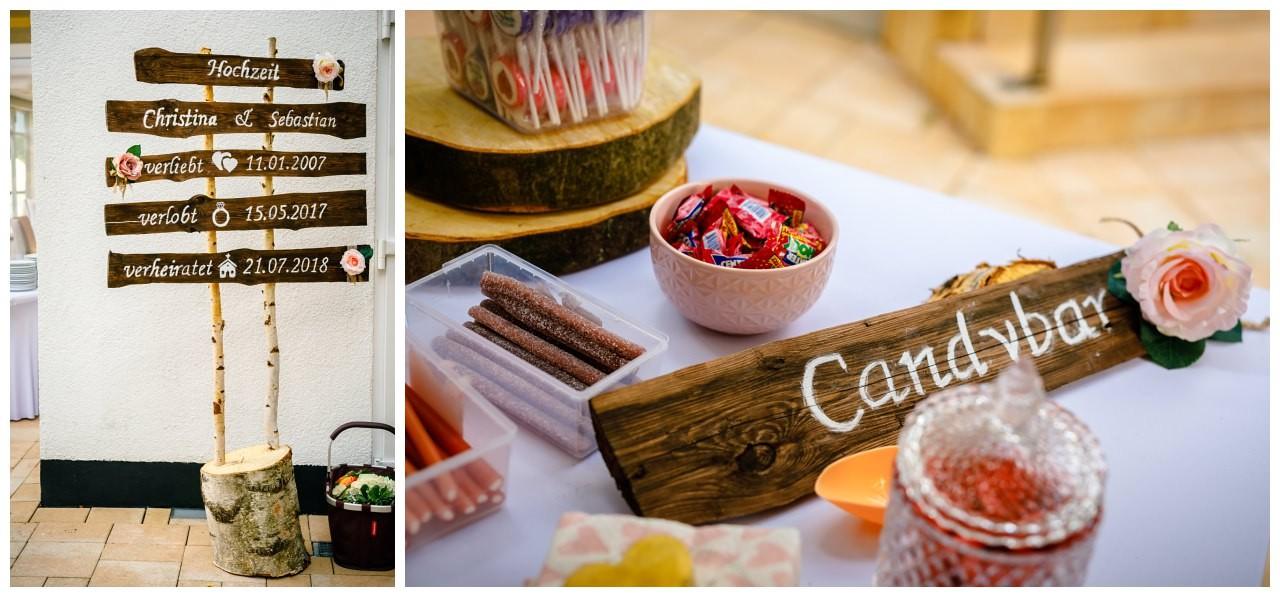 Candybar zur Hochzeit im Seepavillon .