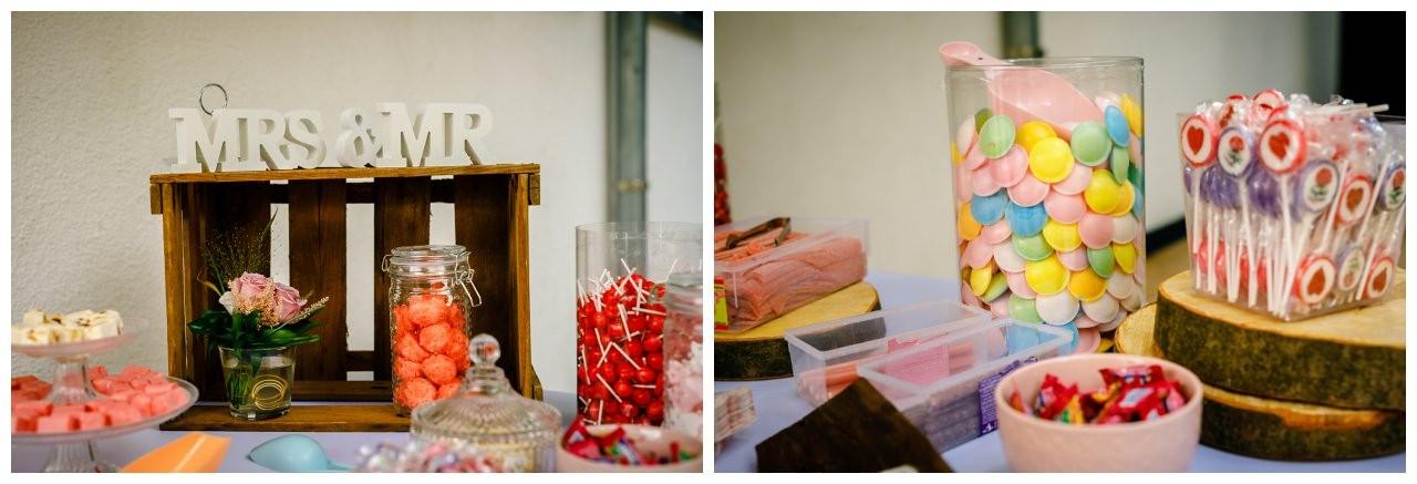 Candybar zur Hochzeit in Köln.