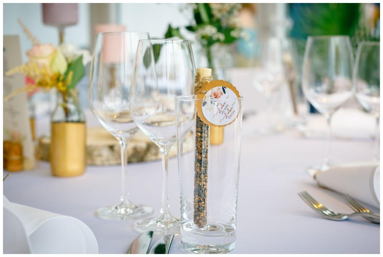 Gastgeschenk beid er Hochzeit im Seepavillon Fühlinger See.