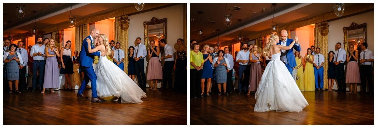 Der erste Tanz bei der Hochzeit in Gelsenkirchen.