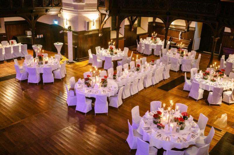 Tischdekoration Hochzeitslocation NRW Eventkirche Velbert Hochzeit