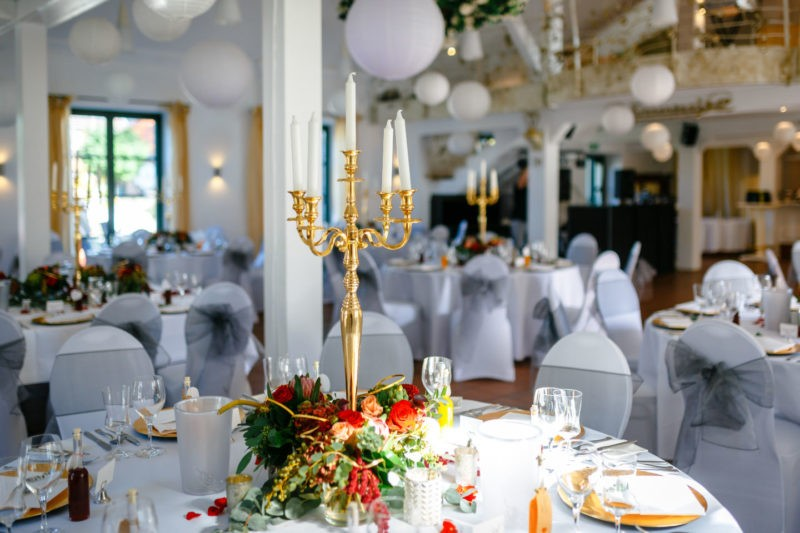 Kerzenleuchter Tischdekoration Kaiserhof Willich Heiraten Hochzeitslocation NRW