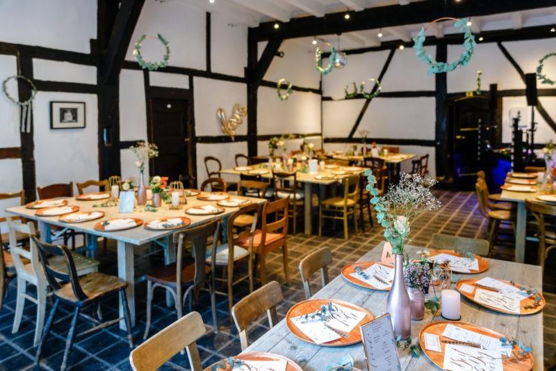 Tischdekoration Hochzeitsfeier Hochzeitslocation NRW Kirschhof Viersen