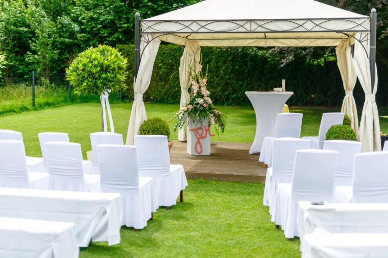 Dekoration freie Trauung Hochzeitslocation NRW Lennhof Dortmund Heiraten