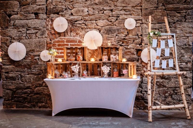Hochzeitslocation NRW Candy Bar Alte Schlossfabrik Solingen