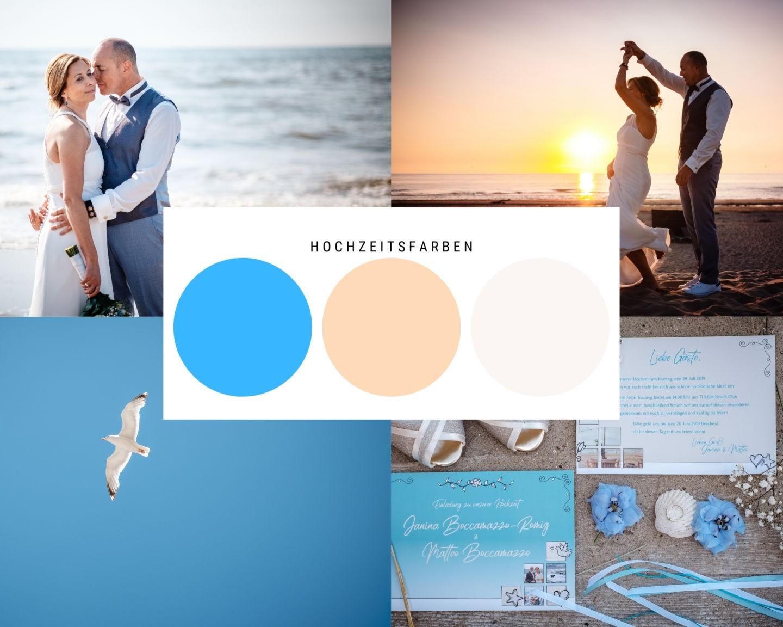 Strandhochzeit maritim blau holland - Hochzeit in Holland am Strand