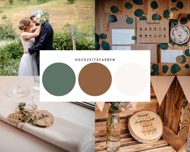 Hochzeitsdeko Eukalyptus Heiraten Königswinter Drachenfels Holz Hochzeitsfotograf - Hochzeit auf dem Drachenfels in Königswinter