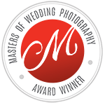 masters of german wedding photography award badge