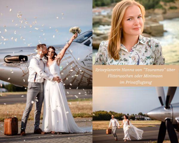 Privatjet mieten Hochzeitsreise Flitterwochen planen Flugzeug