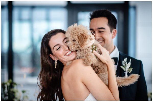 Hochzeitsfotos in Düsseldorf Hochzeitsfotograf Haustier Hund Shooting